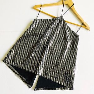 Zara Sequin Halter Top